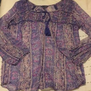 American Eagle Outfitter's Sheer Blouse